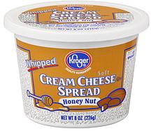 Kroger Cream Cheese Spread Whipped, Honey Nut 8.0 oz ... Kroger Whipping Cream