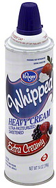 Kroger Heavy Cream Whipped, Extra Creamy 14.0 oz Nutrition ... Kroger Whipping Cream