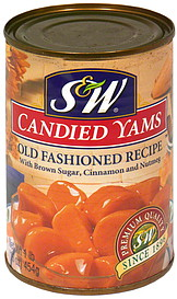 s w candied yams old fashioned recipe 1 0 lb nutrition information shopwell. Black Bedroom Furniture Sets. Home Design Ideas