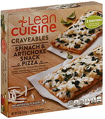 Lean cuisine snack pizza spinach artichoke 6 0 oz for Are lean cuisine pizzas healthy