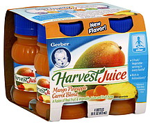 Gerber Juice Mango Pineapple Carrot Blend 4 0 Ea