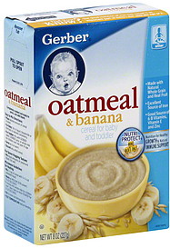 Gerber Cereal For Baby And Toddler Oatmeal Amp Banana 8 0 Oz Nutrition Information