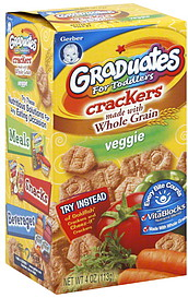 Gerber Crackers For Toddlers Veggie 4 0 Oz Nutrition