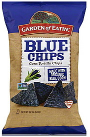 Garden Of Eatin Tortilla Chips Corn Blue Chips 22 0 Oz Nutrition Information Shopwell