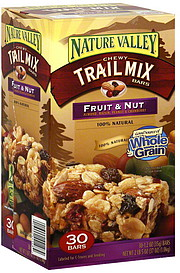 Nature Valley Chewy Trail Mix Bars Fruit & Nut 30.0 ea Nutrition ...