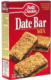 Betty Crocker Date Bar Mix 14.0 oz Nutrition Information | ShopWell