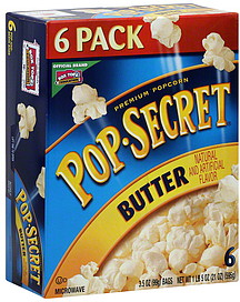 Calories in Pop Secret 94% FF Kettle Corn