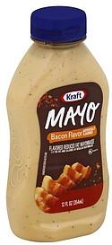 Kraft Mayonnaise Reduced Fat, Bacon Flavor 12.0 oz Nutrition ...