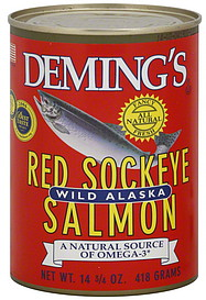 deming 39 s red sockeye salmon oz nutrition information shopwell. Black Bedroom Furniture Sets. Home Design Ideas
