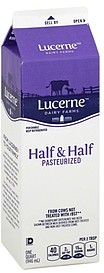 Lucerne Half-and-Half 1.0 qt Nutrition Information | ShopWell