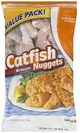 Safeway catfish nuggets value pack 48 0 oz nutrition for Cod fish walmart