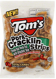 Tom's Pork Cracklin Strips