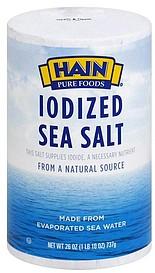 Sea salt without iodine