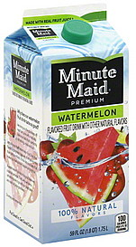 Minute Maid Fruit Drink Premium, Watermelon 59.0 oz Nutrition ...