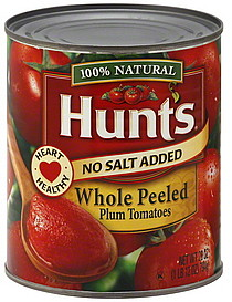Hunts Plum Tomatoes Whole Peeled 28.0 oz Nutrition Information | ShopWell