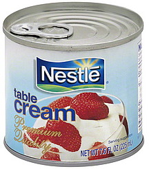 Nestle Table Cream 7.6 oz Nutrition Information | ShopWell