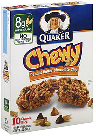 Quaker Granola Bars Peanut Butter Chocolate Chip 10.0 ea ...