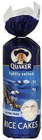 Quaker Rice Cakes Lightly Salted 4.47 oz Nutrition ... Quaker Rice Cakes Ingredient List
