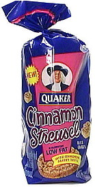 Quaker Rice Cakes Low Fat Rice Cakes, Cinnamon Streusels 6 ... Quaker Rice Cakes Ingredient List