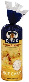 Quaker Rice Cakes Buttered Popcorn 4.47 oz Nutrition ... Quaker Rice Cakes Ingredient List