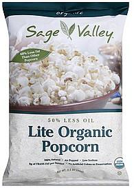 Sage Valley Popcorn Lite Organic 3.5 oz Nutrition Information ...