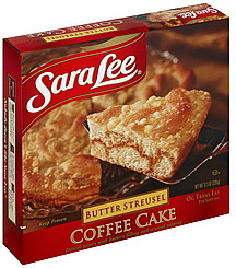 Sara Lee Butter Streusel Coffee Cake Nutrition