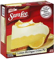 Sara Lee Creme Pie Lemon Meringue 23 0 Oz Nutrition