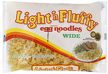 Light N' Fluffy Egg Noodles Wide, Enriched 12.0 oz Nutrition ...