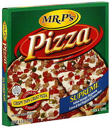 Mr. P's Pizza Crispy Thin Crust, Supreme 6.5 oz Nutrition ...