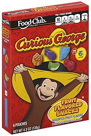 Food Club Fruit Flavored Snacks Curious George, PBS Kids ...