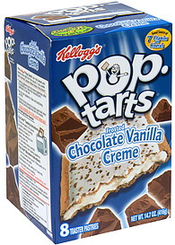 poptarts toaster pastries frosted chocolate vanilla creme