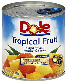 Dole Tropical Fruit in Light Syrup & Passion Fruit Juice 15.25 oz ...