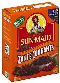 Sun Maid Currants Zante 10.0 oz Nutrition Information ...