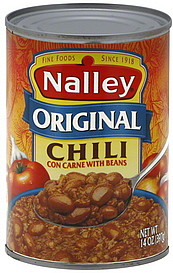 nalley chili con carne with beans original 14 0 oz nutrition information shopwell. Black Bedroom Furniture Sets. Home Design Ideas