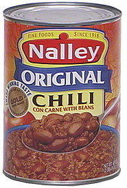 nalley original chili con carne with beans 40 0 oz nutrition information shopwell. Black Bedroom Furniture Sets. Home Design Ideas