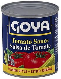 Goya Tomato Sauce Spanish Style 8.0 oz Nutrition Information | ShopWell