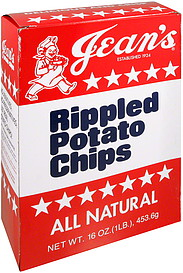 Jean S Potato Chips Rippled All Natural 16 0 Oz Nutrition
