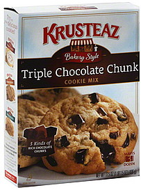 Krusteaz Cookie Mix Triple Chocolate Chunk 17.5 oz Nutrition ...