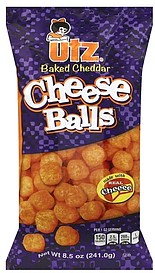Utz Cheese Balls Baked Cheddar 8 5 Oz Nutrition