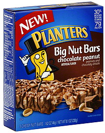 Planters Nut Bars Chewy, Chocolate Peanut 5.0 ea Nutrition Information ...