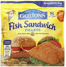Gortons fish sandwich fillets 8 0 ea nutrition information for Gorton s frozen fish