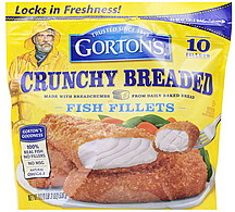 Gortons fish fillets crunchy breaded 19 0 oz nutrition for Gortons fish sticks