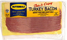 Butterball Turkey Bacon Thin & Crispy 6.0 oz Nutrition Information ...