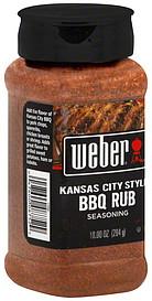 Weber Seasoning Kansas City Style Bbq Rub 10 0 Oz