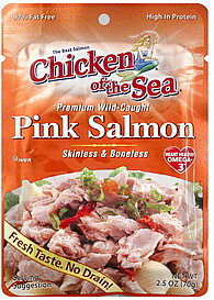 chicken of the sea salmon pink premium wild caught 2 5 oz nutrition information shopwell. Black Bedroom Furniture Sets. Home Design Ideas