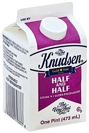 Knudsen Half and Half 1.0 pt Nutrition Information | ShopWell