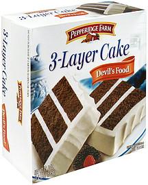 Pepperidge Farm 3 Layer Cake Devil S Food 19 6 Oz
