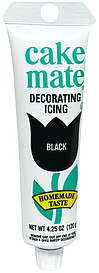 Cake Mate Decorating Icing Black 4.25 oz Nutrition ...