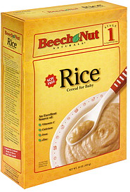 Beech Nut Cereal For Baby Rice Stage 1 16 0 Oz Nutrition