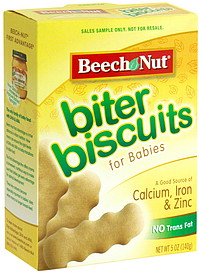 Beech Nut Biter Biscuits For Babies 5 0 Oz Nutrition
